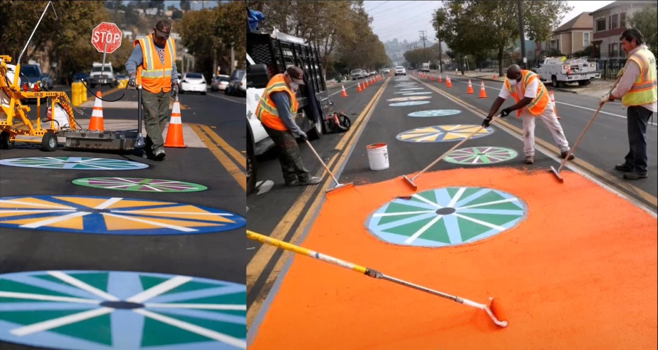 OakDOT builds a new bike lane
